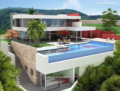 Balcony Infinity Pool, Spain photo via globalestates