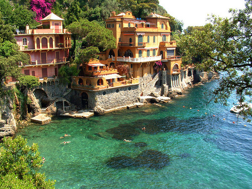 Ocean Front Homes,Portofino, Italy photo by tearsandrain