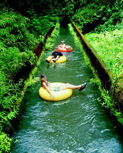 Tubing Canals, Kauai, Hawaii photo via
