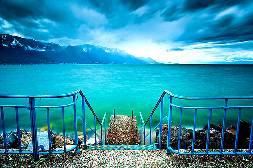 Lake Leman, Switzerland phot via safetysuit