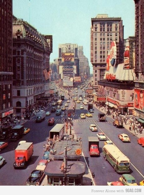 Times Square, New York, 1955
