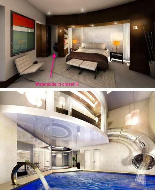 Bedroom Waterslide photo via