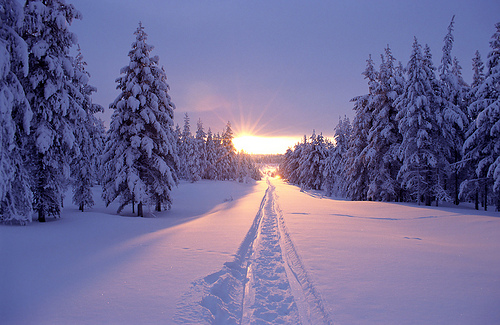 Snow Sunset, Canada
