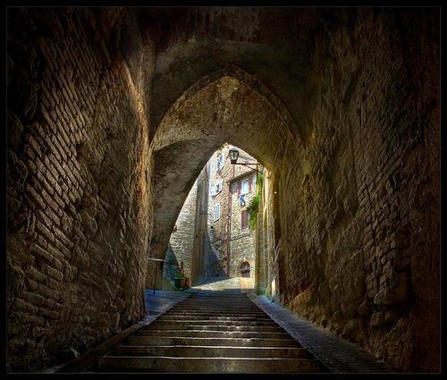 Tunnel, Tuscany, Italy